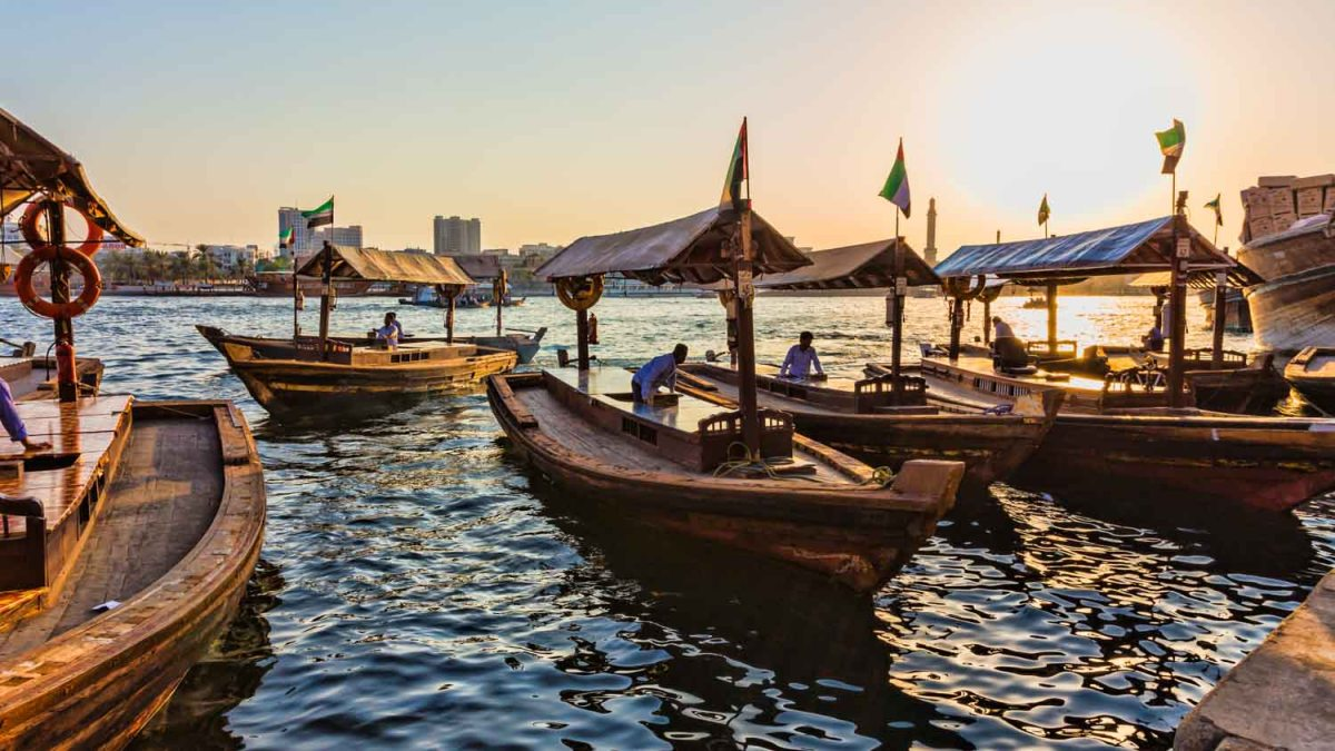 Dubai - Abra water taxis